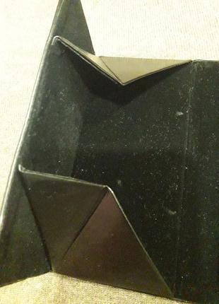Кожаный футляр для очков черного цвета5 фото