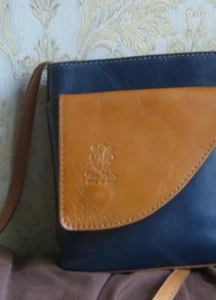 Стильная кожаная сумка vera pele (оригинал )италия