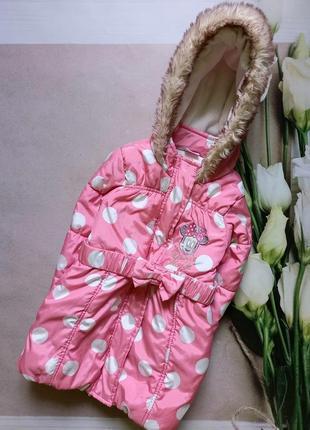 Удлиненная куртка disney 2/3 года розового цвета