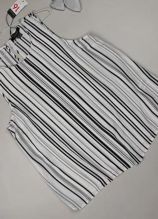 Блуза топ новая стильная в полоску uk 14-16