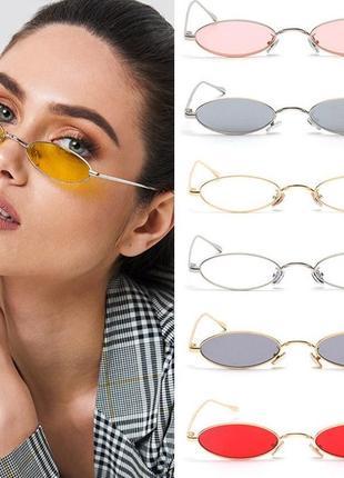 Очки солнцезащитные овалы4 фото