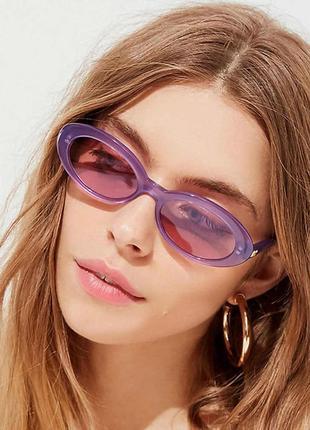 Очки солнцезащитные овалы3 фото