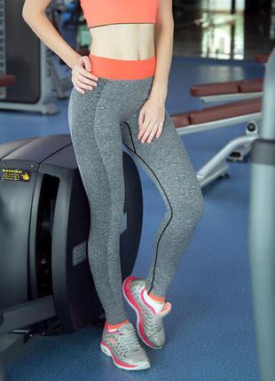 Спортивные леггинсы, код:1115, лосины для фитнеса, штаны для бега, одежда