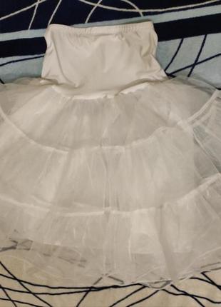 Юбка подюбник белый размер s