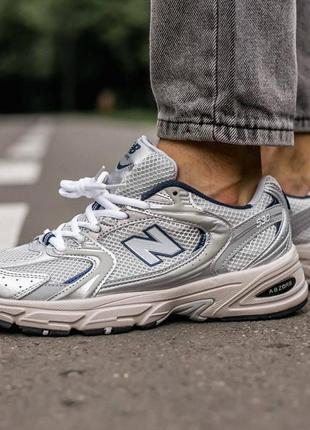 Мужские стильные осенние кроссовки new balance 530 grey\silver