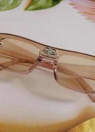 Эксклюзивные брендовые солнцезащитные прозрачно нюдовые солнцезащитные очки унисекс 2021
