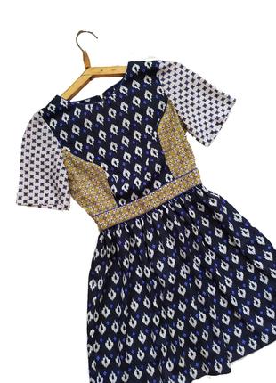 Печворк платье / принт винтаж ретро / сарафан / сукня бохо