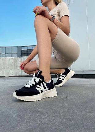 Кроссовки mlb sneakers black white женские