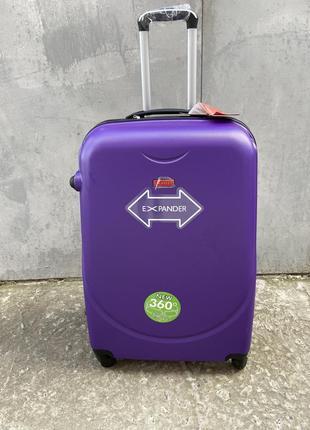 Чемодан дорожный пластиковый маленький, чемодан ручная кладь на колёсах, валіза дорожня ручна кладь, маленька валіза на колесах