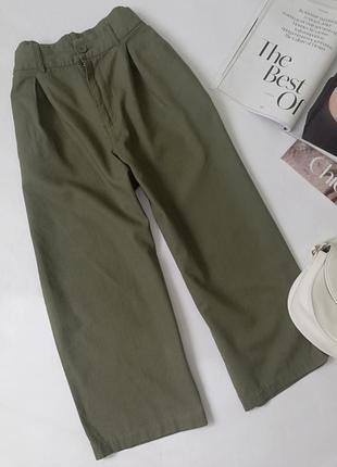 Лляні брюки кюлоти,льняные кюлоты,широкие брюки