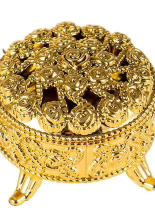 Золотая нарядная коробочка для всякой всячины декор