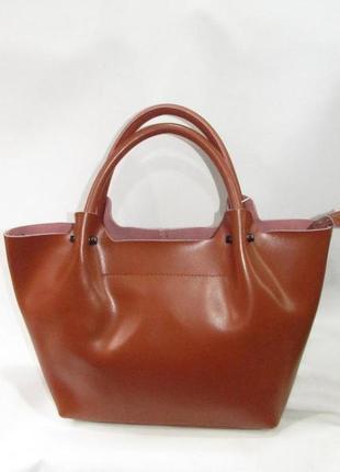 Сумка кожаная женская из натуральной кожи вместительная лодочка рыжая коричневая camel качественная стильная деловая модная красивая шоппер
