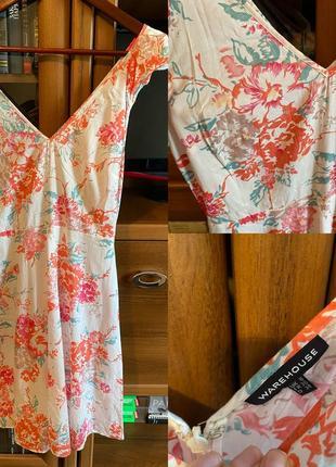 Платье из хлопка warehouse