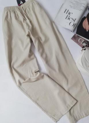 Лляні широкі брюки,штани,льняные брюки палаццо