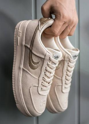 "Кроссовки nike air force x stüssy ""beige"""