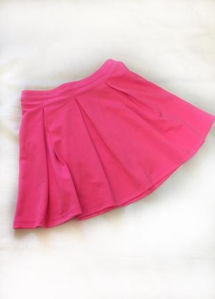 Юбка неоновый розовый, неон, малиновый