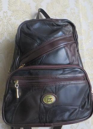 Стильный кожаный рюкзак fk .германия
