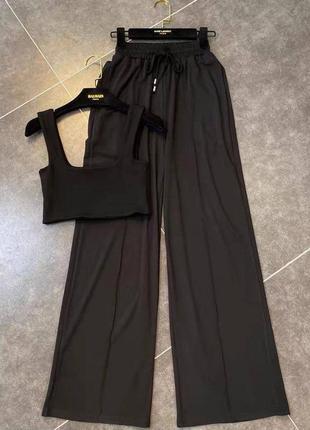 Костюм двойка штаны+ топ, костюм брюки и топ