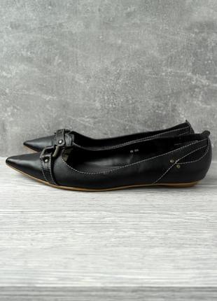 """Стильные кожаные туфли, балетки """"schuh"""". размер uk6/ eur39."""