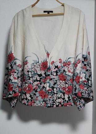 Роскошный летний пиджак, кардиган в цветочный принт lindex 46-48
