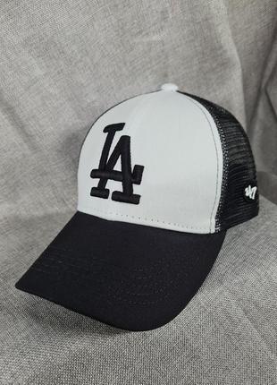 Бейсболка la кепка унисекс, бейсболка los angeles сетка, бейсболка la, кепка la, чёрная бейсболка