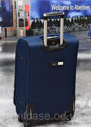 Тканевый дорожный чемодан на 4-х колесх ormi9 фото