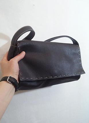 Coccinelle, сумка кожаная коричневая, made in italy