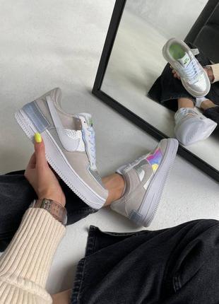 Женские кроссовки nike air force shadow «pure platinum»
