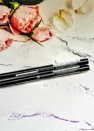🌷 водостійкий олівець для контуру очей чорний ив роше yves rocher