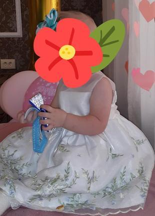 Нежное платье на 1 годик2 фото