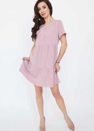 Розовое летнее мини-платье | 49193