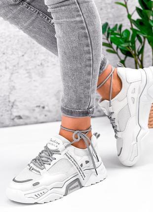 Крутые кроссовки эко кожа + текстиль