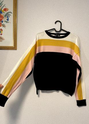 Мягкий свитерок оверсайз полоски / большая распродажа!