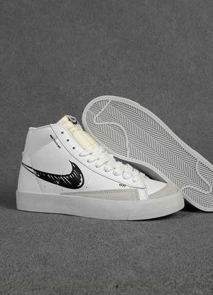 Кроссовки женские nike blazer mid 77 белые / кросівки жіночі найк блейзер білі кроссы