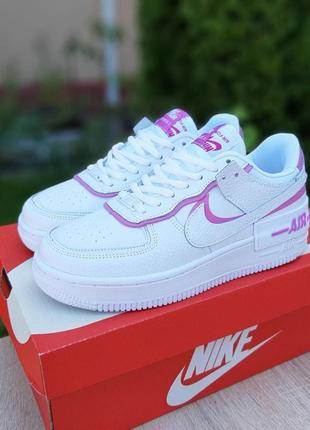 Кроссовки женские nike air force 1 shadow белые / кросівки жіночі найк блейзер білі кроссы