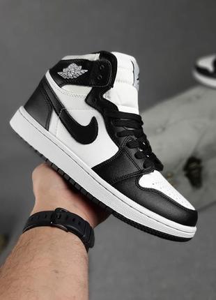 Кроссовки женские nike jordan белые с черным / кросівки жіночі найк джордан білі кроссы