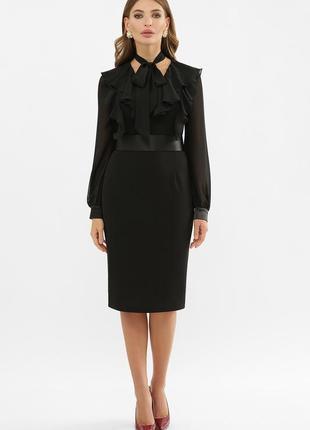 Черное платье футляр | 37881