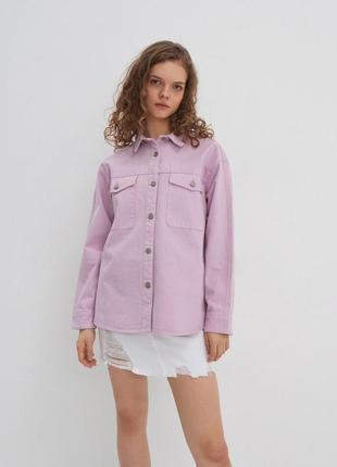 Рубашка джинсовая лавандовая house m/l