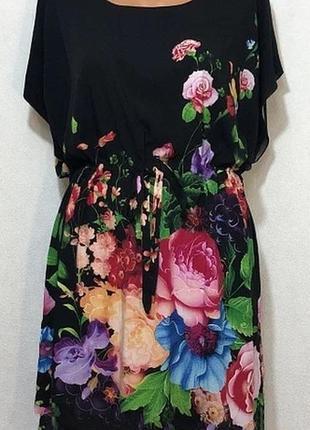 Платье с натуральной ткани штапель размер универсальный подходит на 50-54