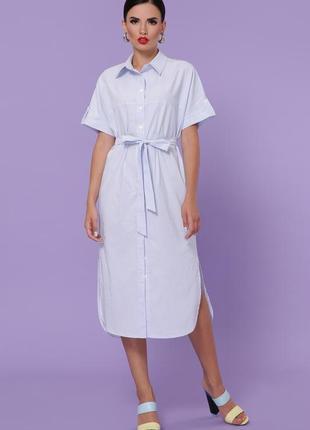 Платье-рубашка в полоску | 18318