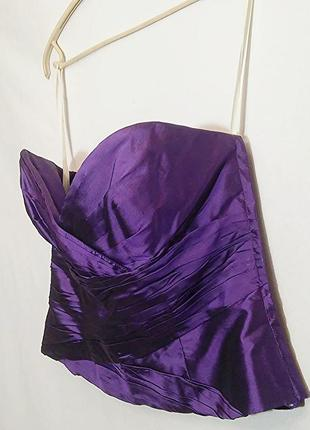 Marisa baratelli, корсет бюстье топ шелк фиолетовый