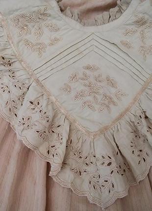 Платье миди хлопок винтаж7 фото