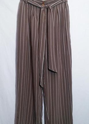 Bettu barclau, брюки штаны шелк прямые широкие в полоску