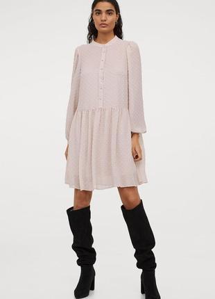 Свободное шифоновое платье h&m
