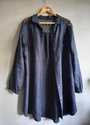 Комфортная льняная рубашка туника