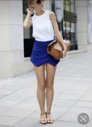 Юбка шорты синий электрик