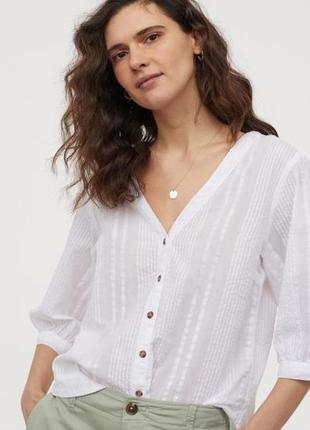 Новая хлопковая блуза h&m. размер 38