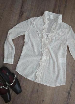 Дезайнеская блуза sezane. натуральный шелк