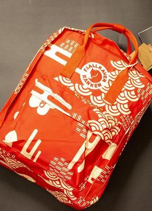 Рюкзак канкен большой, fjallraven kanken big, красный, арт, art, акция, подарок, школьный, шкільний портфель