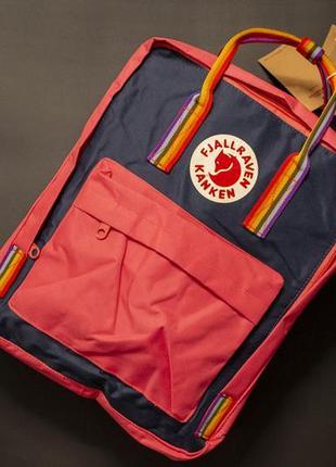 Рюкзак канкен классик, fjallraven kanken classic, кораловый темно синий, акция, подарок, школьный, шкільний портфель